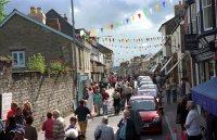 Castle Street during the Hay Festival of Literature