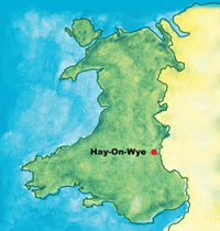 map of hay on wye